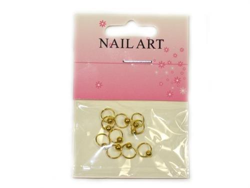 10 Stück Nail Art PIERCING Dangle Farbe : Gold D22