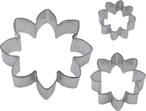 3 Piece Daisy Flower Biscuit Cookie Direct sale of manufacturer Set 3'' NEW Cutter 2.5'' Fashionable