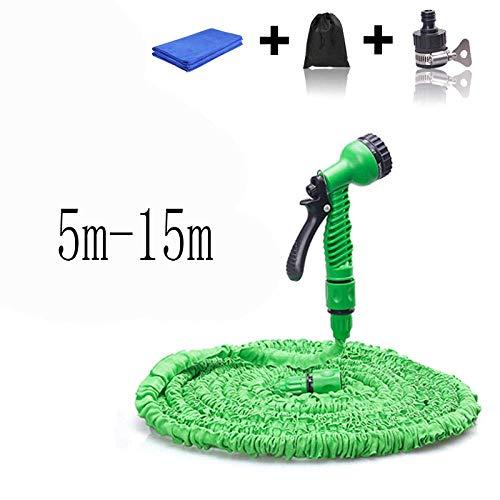 Pkfinrd Telescopische waterpijp, antivries en slijtvast,@15M Groen, Tuinslang spuitpistolen, legering, Irrigatie gereedschap