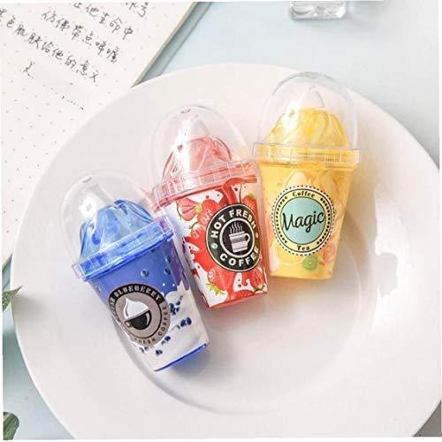 Schattige melk Tea Cup Ice Cream Correctie Tape briefpapier Office School benodigdheden Fles corrector nieuwe creatieve