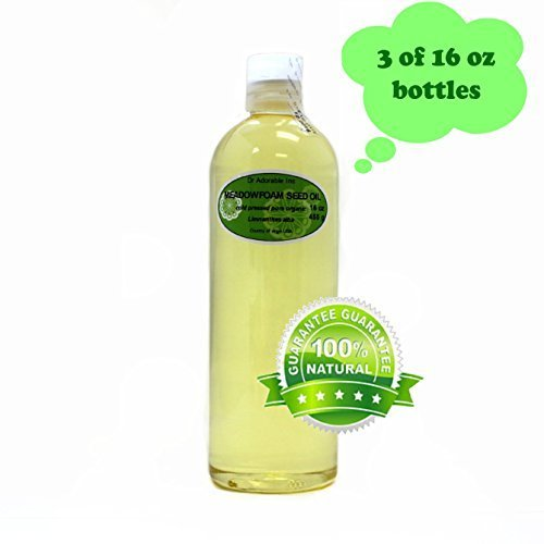 Aceite de semilla de Meadowfoam puro orgánico por Dr.Adorable 48 oz/3 pintas