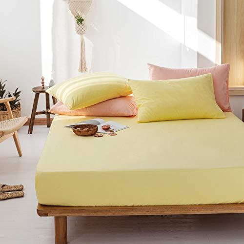 haiba Protector de colchón impermeable transpirable con correas de esquina, 180 x 200 cm