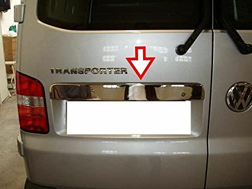 para T5 Transporter 2003-2015 doble puerta de acero inoxidable cromado tapa del tronco trasero cubierta de la cubierta de la tira de moldura de la placa de la parte superior del portón trasero