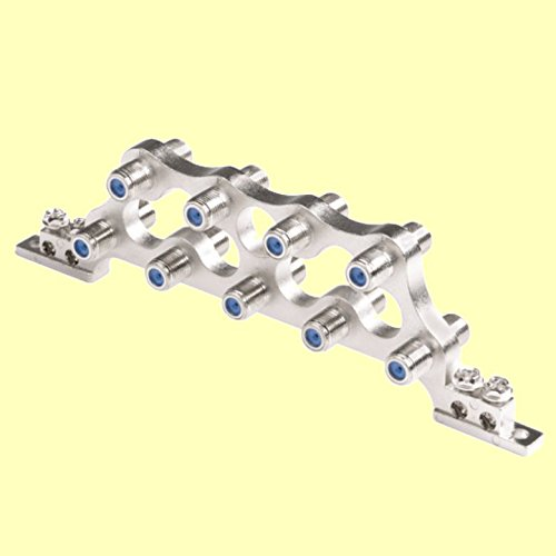 erenLINE® Erdungsblock-Potentialausgleich 9-Fach für 9 Koax - Leitungen; kaskadierbar; mit Rückflussdämpfung; Sat-; Kabel-TV; DVB-T; HDTV und digital