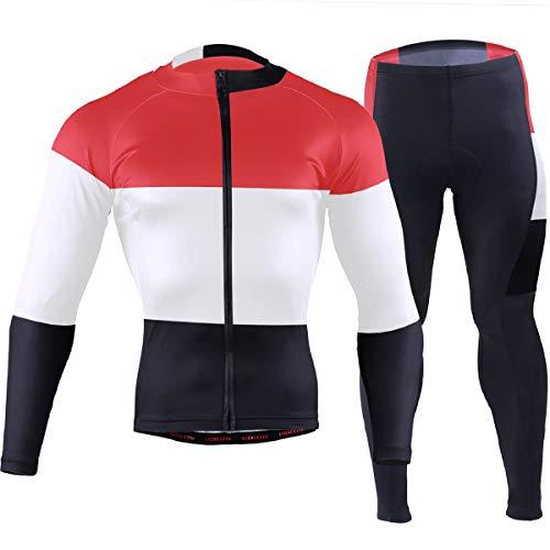 jackseng Yemen Flag Mountain Bike Jersey Mens Biking Shirt Long Padded Breathable Cycling Jersey