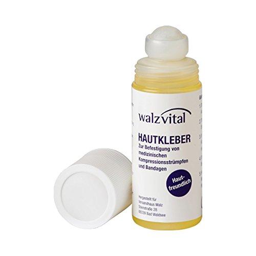 COMPRESSANA Hautkleber für Kosmetik, Stütz- und Kompressionsstrümpfe - 60 ml - im praktischen roll-on Klebestift