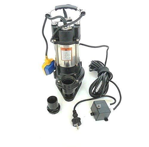 !! Profi !! INOX Fäkalienpumpe Schmutzwasserpumpe V750 mit Schneidwerk + Schaufelräder aus Edelstahl, Leistung 750Watt, Spannung 230V/50Hz, Fördermenge: 18000l/h.