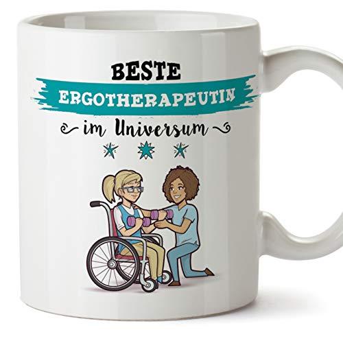 Ergotherapeutin Tasse/Becher/Mug Geschenk Schöne and lustige kaffetasse - Diese Tasse gehört der besten Ergotherapeutin im Universum - Keramik 350 ml