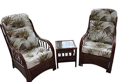 Garden Market Place Verona-Juego de 2 sillas y una Mesa Auxiliar, diseño de Palmera, 119 X 80 X99