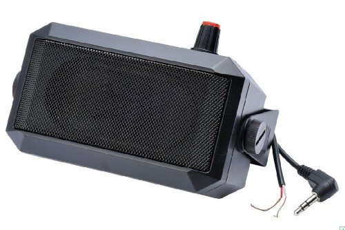 TOPMYS TM-ES604A CB Radio Speaker 8ohm 5W Amplifier Speaker for CB Radio with Volume Adjust Button 1.85m Cable 3.5mm Mono Plug External Speakers