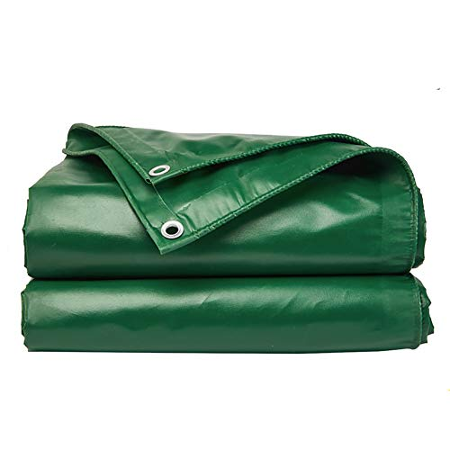 LIUPENGWEI Zeildoek En Dikke Waterdichte Waterdichte Stof Zonnescherm Oxford Doek Outdoor Canvas Plastic Zeildoek Doek - Green zeildoekzak (Color : Green, Size : 3m×2m)