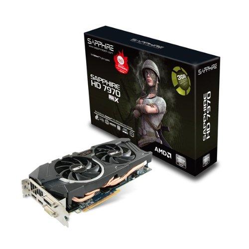 Sapphire 11197-03-40G ATI Radeon HD 7970 OC Grafikkarte (PCI-e, 3GB GDDR5, 384-bit, DVI, VGA, HDMI, 1 GPU, DisplayPort)