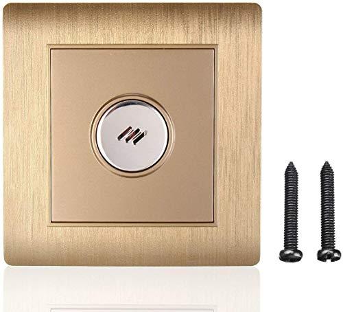 Terrarum Lichtschalter, AC 110~250 V, PC-LED-Lichtsteuerung, Wandmontage, Sprachsignalaktiviert, silberfarben/goldfarben