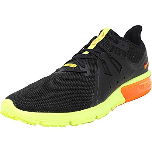 Nike Men's Air Max Sequent 3 Running Shoes (11 D(M) US, Black/Total Crimson/University Red)