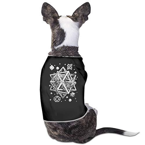 Jiaojiaozhe Escher Space Huisdier Service Huisdier Kleding Grappige Hond Kat Kostuum Tshirt Zwart, S, Zwart