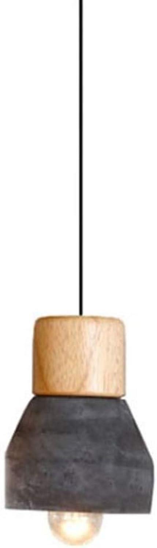 SDFjh Couleur CiHommest Lustre Moderne Industriel Rétro De Mode Créatif En Bois Massif Convient Pour Restaurant Chambre Café Bar Table Lampe (Couleur   Noir)