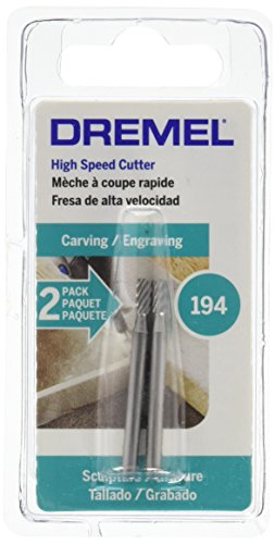 Dremel 194 Rotary Tool Accessory Carving Bit- Perfect for Wood, Plastic, and Soft Metals, Silver