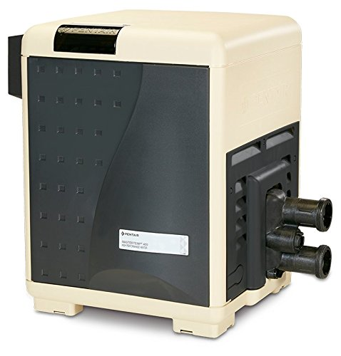 Pentair 460805 MasterTemp High Performance Eco-Friendly Pool Heater, Natural Gas, 400,000 BTU, Heavy Duty
