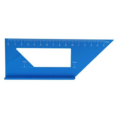 Medidor de ángulo de carpintería, regla de marcado de carpintería conveniente resistente al impacto, para regla de carpintería