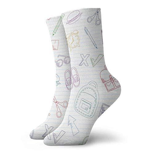 Preisvergleich Produktbild lkjhg478 Gliederung Schultaschen und Schreibwaren zufällige Unisex bequeme lässige Socke Crew Socken Neuheit Söckchen 30cm (11.8inches)