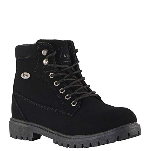 Lugz mens Mantle Hi Classic 6-Inch Memory Foam Fashion Boot Black 8 medium US