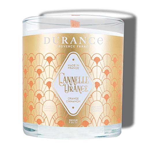 Durance - Vela mecha de madera perfumada con aroma a canela, color...