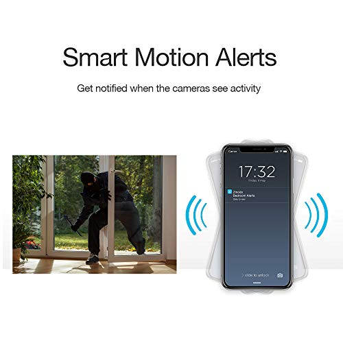 Zmodo Mini Pro -WiFi Indoor Camera for Home Security, 1080p HD Smart IP Cam with Night Vision, 2-Way Audio, AI-powered Motion Detection, Phone App, Pet Camera- Works with Alexa and Google