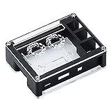 JKCKHA Módulo Kit DIY Negro acrílico de Casos de Soporte Dual Aficionados Kit for Raspberry Pi + 3B Junta expositivos de refrigeración Leiterplatte