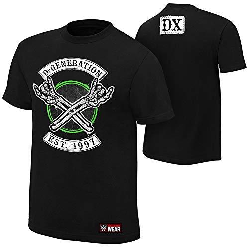 WWE Authentic Wear D-Generation X Crossbones T-Shirt Black 2XL