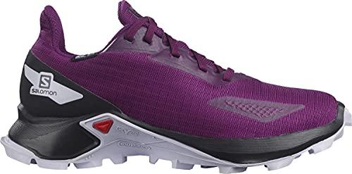 Salomon ALPHACROSS Blast CSWP J, Zapatillas Impermeables De Trail Running Y Outdoor Actividades, Morado (Plum Caspia/Black/Purple Heather), 40 EU
