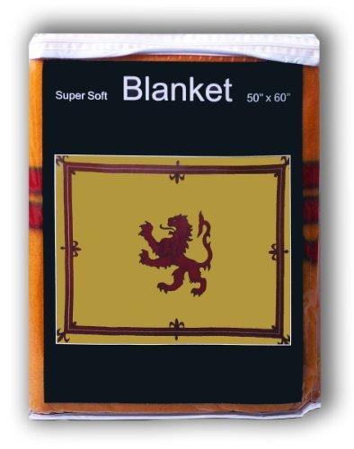 Super Soft Royal Standard of Scotland Fleece Decke 5ft x 4.2FT. Überwurf Bettwäsche Scottish Lion Rampant King of Schotten