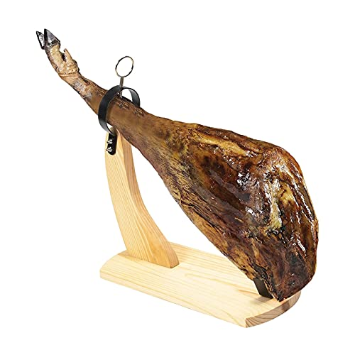 Xu Yuan Jia-Shop Jamonero Tabla Soporte Wood Ham Rack Chef Barbacoa Holder Hallero Metal Stand...