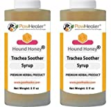 PawHealer Trachea Soother Syrup 2PAK Hound Honey - Natural Herbal Remedy for Symptoms of Collapsed Trachea - Tastes Good - Easy to Administer (5 fl oz/ea)