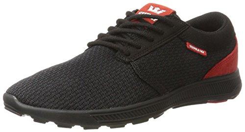 Supra Herren Hammer Run Sneaker, Schwarz (Black-Risk Red), 44 EU