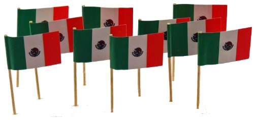 Mexico | Mexican Flag Toothpicks (100) by Flags! Georgia