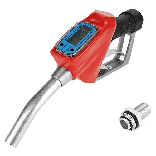 Elektrische Dieselpumpe, manuelle zapfpistole mit zählwerk und Stecker,Digital manuelle Diesel Zapfpistole,AC 15A,Zum Füllen von Diesel, Kerosin, Benzin usw,rot