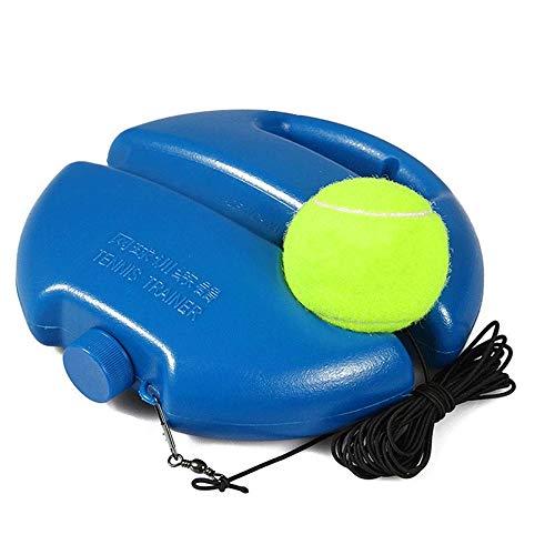 KNDJSPR Entrenador de Tenis, Solo con Cuerdas largas y Equipo de Pelota de Rebote de Banda de Tenis, para Adultos y niños, autopráctica portátil, Azul