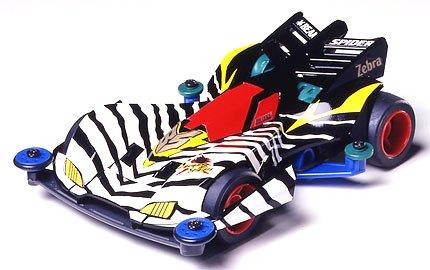 Mini4WD Let's Go Beak Spider Zebra