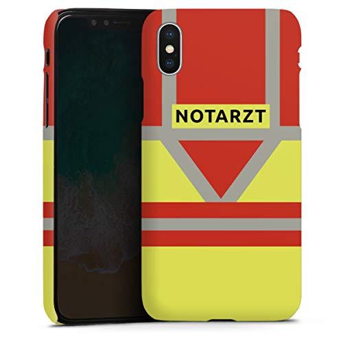 DeinDesign Premium Case kompatibel mit Apple iPhone X Smartphone Handyhülle Hülle matt Beruf Notarzt Uniform