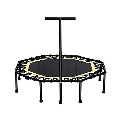 XXHDEE Trampoline voor volwassenen, voor binnen, gym, kleine trampoline