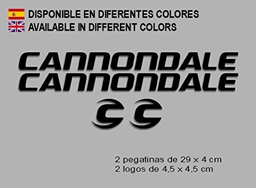 Ecoshirt OJ-SFS8-569G Pegatinas Cannondale F118 Vinilo Adesivi Decal Aufkleber Клей MTB Stickers Bike, Negro