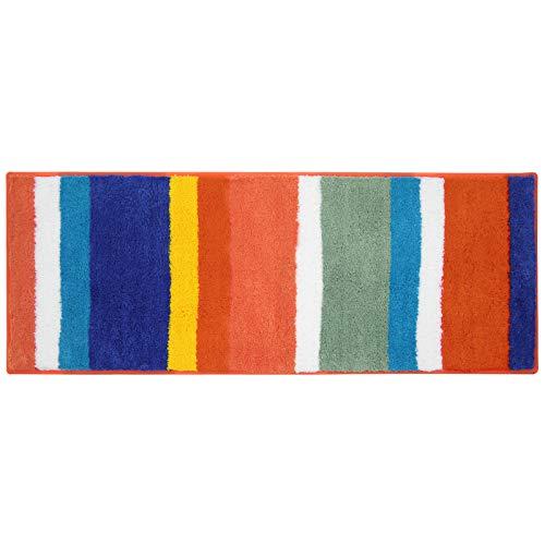 Pauwer Microfibra Bagno tappetini Antiscivolo Lavabile Tappeto Bagno, Microfibra,45 x 120 cm, colore: Arcobaleno