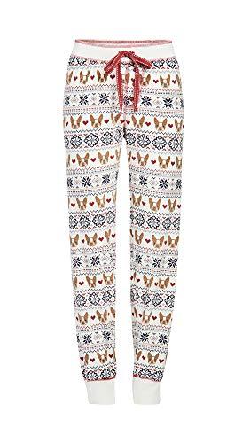 PJ Salvage Women's Loungewear Dog Mama Jammie Pant, Ivory, L