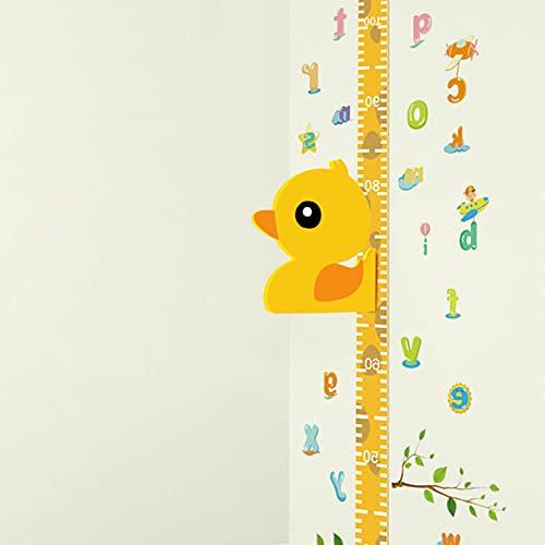 Tomedeks Gráfico De Crecimiento Pato 3d, 35-185cm Regla De Altura Medidor De Altura De Quita Y Pon Para Niños, Pegatinas De Pared Movibles Para Escribible, Vinilos Para Dormitorio Infantil