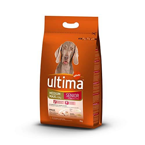 Ultima Cibo per Cani Medium Maxi Senior +7 Anni con Pollo - 3 kg