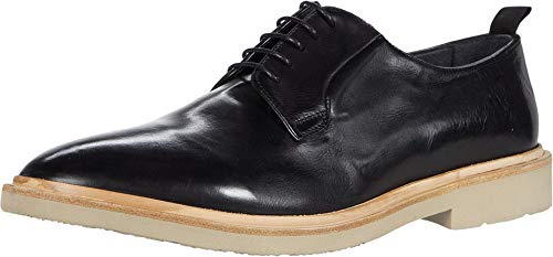 Gordon Rush Fletcher - Men's High End Casual Plain Toe Oxford Handcrafted in Italy. Lace-Up with Premium Italian Leather Upper, Leather Lining, and St. Moritz Blowtech EVA Sole. (Black, 10)