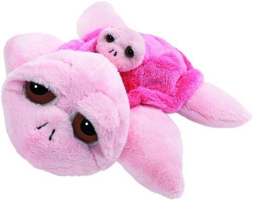Suki 10027 Stofftier Schildkröte Coral Mama mit Baby, 30 cm, rosa