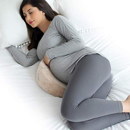 EKLO MommyWedge Pregnancy Wedge Pillow - Memory Foam Maternity Support for Back, Belly, Knees -...