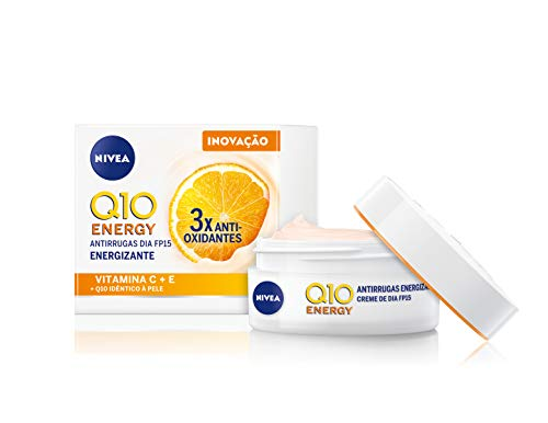 NIVEA Q10 Energy Healthy Glow Face Day Cream (50 ml), Energising Day Cream, Face Cream for Women, Moisturising Cream, Face Cream with Q10, Vitamin C, and Vitamin E