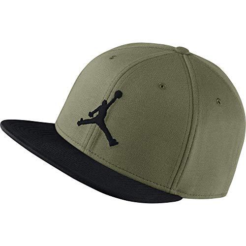 Jordan Men's Jumpman Snapback Hat 861452 (Olive Canvas/Black)